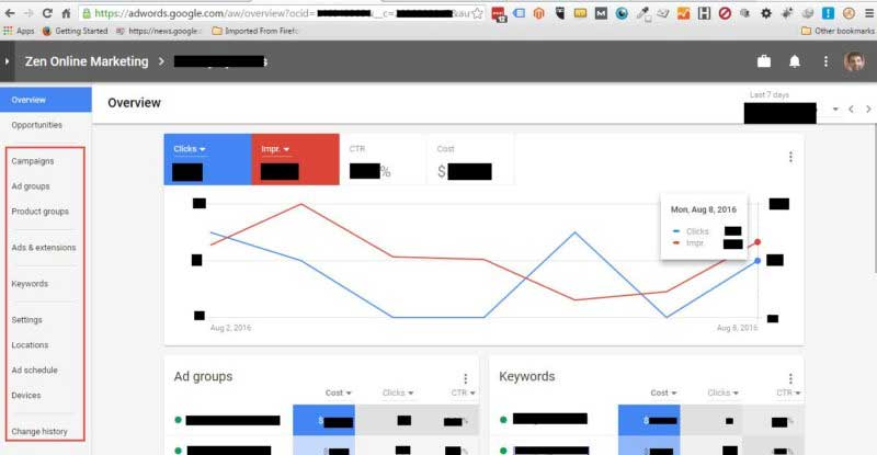 new interface adwords